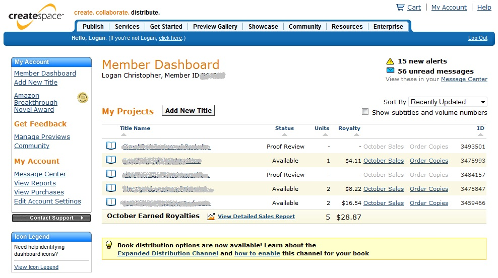 Createspace money screenshot How to Sell Books on Amazon