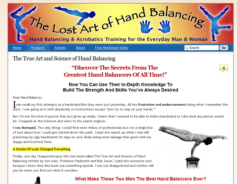 Lost Art Of Hand Balancing